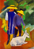 August Macke Children with Goat Art Print Poster Masterprint
