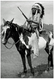 Native American on Horseback Archival Photo Poster Print Posters