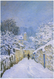 Alfred Sisley Snow in Louveciennes Art Print Poster Posters