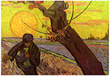 Vincent Van Gogh The Sower Art Print Poster Prints