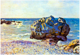 Alfred Sisley Bay of Long-Country with Rock Art Print Poster Posters