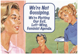 We're Not Gossiping We're Plotting Our Evil Feminist Agenda Funny Poster Print Poster