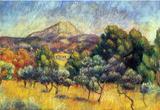 Pierre Auguste Renoir Sainte Victoire Mountain Art Print Poster Masterprint