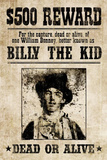 Billy The Kid Western Wanted Sign Print Poster Masterprint