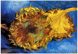 Vincent Van Gogh Two Cut Sunflowers 3 Art Print Poster Posters