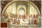 The School of Athens Scuola di Atene by Raphael Art Print Poster Posters