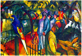 August Macke Zoological Gardens Art Print Poster Posters