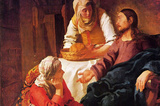 Vermeer Christ in the House of Mary and Martha Art Print Poster Masterprint