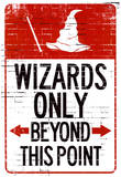 Wizards Only Beyond This Point Sign Poster Masterprint