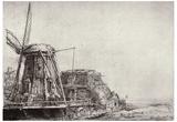 Rembrandt Harmensz. van Rijn (The Windmill) Art Poster Print Posters
