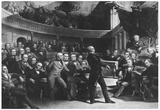 United States Senate Chambers (Clay, Fillmore, Calhoun, Webster, 1850) Poster Prints