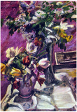Lovis Corinth Lilac and Tulips Art Print Poster Photo