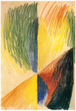 August Macke Abstract Form 14 Art Print Poster Photo