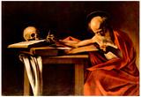 Michelangelo Caravaggio (St. Jerome when writing) Art Poster Print Billeder