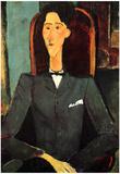 Amadeo Modigliani Portrait of Jean Cocteau Art Print Poster Posters