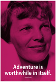 Amelia Earhart Adventure iNspire Quote Poster Posters