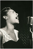 Billie Holiday Signing Archival Photo Music Poster Print Plakater