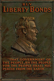 Buy Liberty Bonds Abraham Lincoln WWII War Propaganda Art Print Poster Masterprint