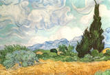 Vincent Van Gogh (Wheatfield with Cypresses) Art Poster Print Masterprint