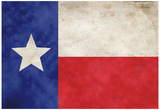 Texas Flag Distressed Art Print Poster Prints