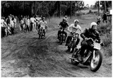 Motorcycle Race 1965 Archival Photo Poster Julisteet