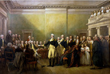 John Trumbull General George Washington Resigning His Commission Art Print Poster Masterprint