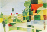 August Macke At the Ships Art Print Poster Posters