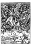 "Albrecht Durer (Illustration for ""Apocalypse,"" Scene: Michael's battle with the dragon) Art Poster Posters"