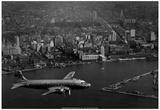 Pan Am Plane Over Rio de Janeiro Archival Photo Poster Posters