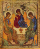 Andrej Rublev (Holy Trinity) Art Poster Print Masterprint