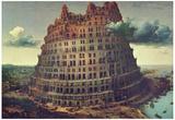 Pieter Brueghel (Tower of Babel) Art Poster Print Posters