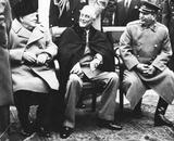 Leaders of World War 2 (Winston Churchill, Franklin Delano Roosevelt, Joseph Stalin, Smiling) Art P Masterprint