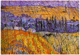 Vincent Van Gogh Landscape at Auvers in the Rain Art Print Poster Photo