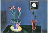 Walter Gramatte Still Life with Clock and Tulip Pot Art Print Poster Posters