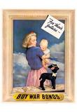 Buy War Bonds for Their Future WWII Military Propaganda Art Print Poster Print
