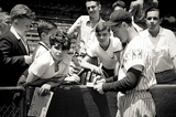 Lou Gehrig Signing Autographs Archival Photo Sports Poster Print Masterprint