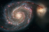 Out of This Whirl: the Whirlpool Galaxy M51 and Companion Galaxy Space Photo Art Poster Print Masterprint