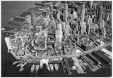 New York City Lower Manhattan Archival Photo Poster Print Photo