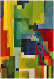 August Macke Colored Forms (II) Art Print Poster Posters