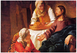 Vermeer Christ in the House of Mary and Martha Art Print Poster Plakat