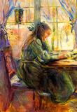 Berthe Morisot Young Girl Writing Art Print Poster Masterprint