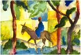 August Macke Donkey Rider Art Print Poster Prints