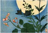 Utagawa Hiroshige Autumn Flowers Full Moon Art Print Poster Posters