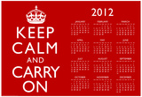 Keep Calm and Carry On Red 2012 Calendar Poster Posters