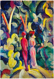 August Macke Couple in the Forest Art Print Poster Posters