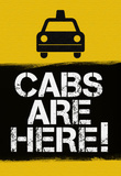 Cabs are Here Jersey Shore TV Print Poster Plakat