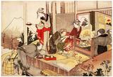 Katsushika Hokusai The Studio of Netsuke Art Poster Print Poster