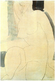Amadeo Modigliani Female Nude Art Print Poster Posters