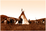 Indian Sioux Camp Native American Photo Print Poster Poster