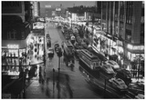 New York City Streetcars at Night Archival Photo Poster Print Prints